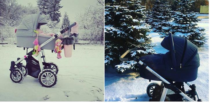 фото колясок baby design зимой